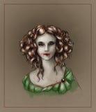 Retrato de uma menina do vampiro Fotografia de Stock Royalty Free