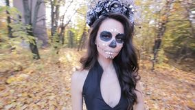 Retrato de uma menina do zombi vídeos de arquivo