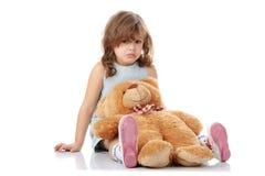 Retrato de uma menina dos anos de idade 5 Imagem de Stock Royalty Free