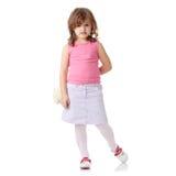 Retrato de uma menina dos anos de idade 5 Fotografia de Stock