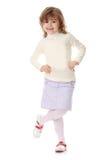 Retrato de uma menina dos anos de idade 5 Imagens de Stock