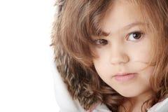 Retrato de uma menina dos anos de idade 5 Imagem de Stock