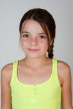 Retrato de uma menina dos anos de idade 9 Fotografia de Stock