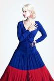 Retrato de uma menina em um vestido longo Imagem de Stock