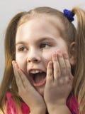 Retrato de uma menina feliz. Foto de Stock Royalty Free