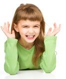 Retrato de uma menina feliz fotografia de stock royalty free