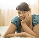 Retrato de uma menina gorda Fotografia de Stock