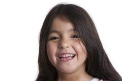 Retrato de uma menina idosa de cinco anos feliz Imagens de Stock