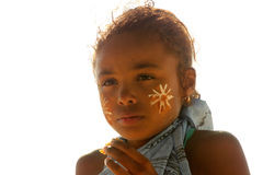 Retrato de uma menina malgaxe Imagem de Stock Royalty Free
