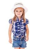 Menina pré-escolar bonita imagem de stock