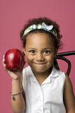 Retrato de uma menina preta nova Fotografia de Stock Royalty Free