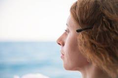 Retrato de uma menina sonhadora imagem de stock royalty free
