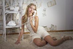Retrato de uma moça Fotos de Stock