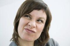 Retrato de uma mulher foto de stock royalty free
