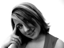 Retrato de uma mulher foto de stock