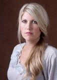 Retrato de uma mulher 30-40 envelhecida média Fotos de Stock