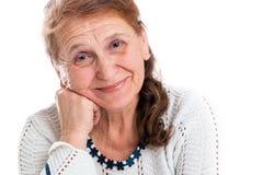 Retrato de uma mulher adulta feliz Foto de Stock Royalty Free