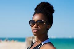 Retrato de uma mulher africana Imagem de Stock