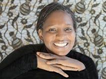 Retrato de uma mulher africana bonita, Senegal Fotografia de Stock Royalty Free