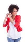 Retrato de uma mulher afro-americano bonita Fotos de Stock