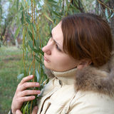 Retrato de uma mulher bonita Foto de Stock