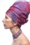 Retrato de uma mulher bonita. Imagens de Stock