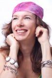 Retrato de uma mulher bonita. Fotos de Stock