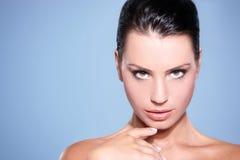 Retrato de uma mulher bonita Imagem de Stock Royalty Free