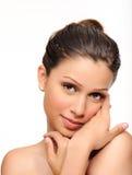 Retrato de uma mulher bonita imagens de stock royalty free