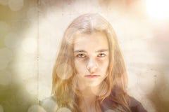 Retrato de uma mulher bonita Foto de Stock Royalty Free