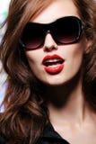 Retrato de uma mulher bonita da forma da sensualidade imagens de stock royalty free