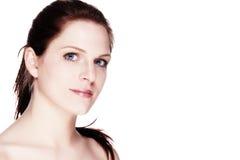 Retrato de uma mulher bonita do bem estar Fotos de Stock Royalty Free