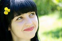 Retrato de uma mulher bonita nova imagem de stock royalty free