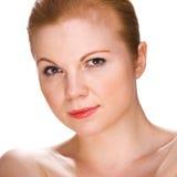 Retrato de uma mulher bonita nova. imagem de stock royalty free