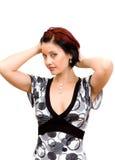 Retrato de uma mulher bonita, nova. fotografia de stock
