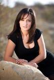Retrato de uma mulher bonita, retrato ao ar livre Fotografia de Stock