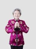 Retrato de uma mulher chinesa superior Foto de Stock