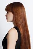 Retrato de uma mulher com cabelo vermelho Foto de Stock Royalty Free