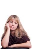 Retrato de uma mulher consideravelmente nova Imagem de Stock