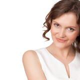 Retrato de uma mulher consideravelmente nova Imagem de Stock Royalty Free