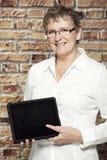 Retrato de uma mulher de meia idade Fotografia de Stock