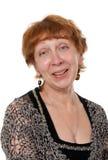 Retrato de uma mulher de meia idade de sorriso Foto de Stock Royalty Free
