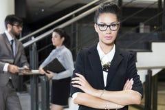 Retrato de uma mulher de negócio Fotografia de Stock