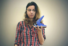 Retrato de uma mulher de negócio Imagem de Stock Royalty Free