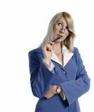 Retrato de uma mulher de negócio atrativa confiável fotografia de stock royalty free