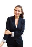 Retrato de uma mulher de negócio atrativa nova Foto de Stock Royalty Free