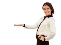 Retrato de uma mulher de negócio atrativa nova Imagem de Stock