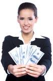 Retrato de uma mulher de negócio bonita Fotografia de Stock