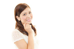 Retrato de uma mulher de negócio nova Foto de Stock