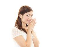 Retrato de uma mulher de negócio nova Fotografia de Stock Royalty Free